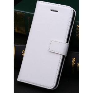 Чехол портмоне подставка с защелкой и отсеками для карт для Iphone 6 Plus Белый