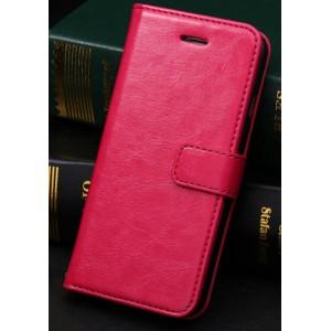 Чехол портмоне подставка с защелкой и отсеками для карт для Iphone 6 Plus Пурпурный