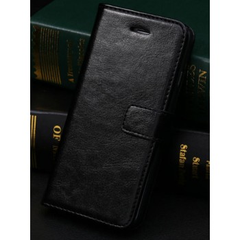 Чехол портмоне подставка с защелкой и отсеками для карт для Iphone 6 Plus Черный