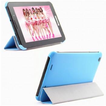 Чехол смарт флип подставка сегментарный на пластиковой основе для планшета Lenovo IdeaTab A3000