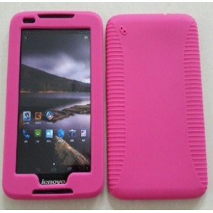 Силиконовый усиленный чехол для планшета Lenovo IdeaTab A1000 Розовый