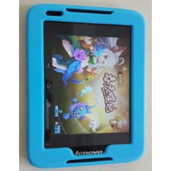 Силиконовый усиленный чехол для планшета Lenovo IdeaTab A1000 Голубой