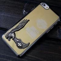 Пластиковый чехол с глянцевым покрытием и металлическим принтом для Iphone 6 Plus