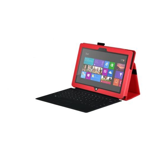 Чехол кожаный Full cover для Microsoft Surface Pro Красный