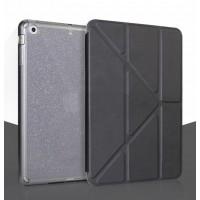 Оригами чехол книжка подставка текстура Узоры на полупрозрачной поликарбонатной основе для Ipad Pro Черный