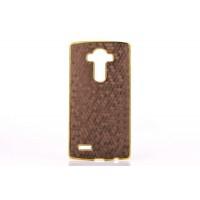 Дизайнерский поликарбонатный чехол текстура Соты для LG G4 Коричневый