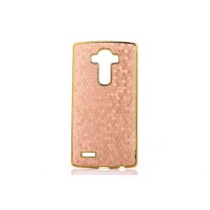 Дизайнерский поликарбонатный чехол текстура Соты для LG G4 Бежевый