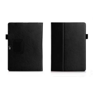 Чехол книжка подставка с рамочной защитой экрана, отделениями для карт и поддержкой кисти для Huawei MediaPad M2 10 Черный
