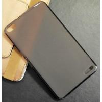 Силиконовый матовый полупрозрачный чехол для Huawei MediaPad X2 Черный