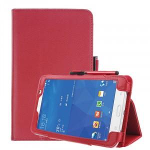 Чехол книжка подставка с рамочной защитой экрана и крепежом для стилуса для Samsung Galaxy Tab A 7 (2016) Красный