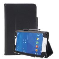 Чехол книжка подставка с рамочной защитой экрана и крепежом для стилуса для Samsung Galaxy Tab A 7 (2016) Черный