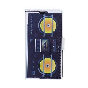 Чехол горизонтальная книжка подставка на силиконовой основе с отсеком для карт и полноповерхностным принтом на магнитной защелке для Alcatel Shine Lite