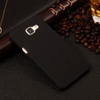 Пластиковый матовый непрозрачный чехол для Samsung Galaxy A5 (2016) Черный