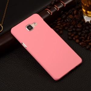 Пластиковый матовый непрозрачный чехол для Samsung Galaxy A5 (2016) Розовый