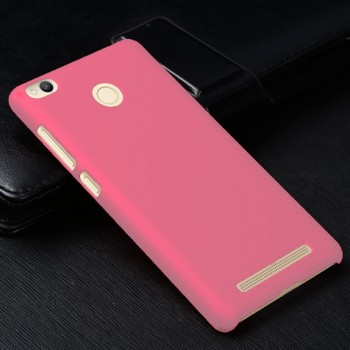 Пластиковый непрозрачный матовый чехол для Xiaomi RedMi 3 Pro/3S Розовый