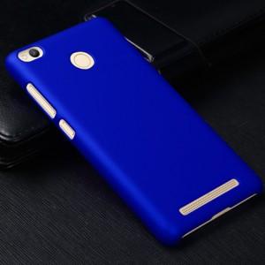 Пластиковый непрозрачный матовый чехол для Xiaomi RedMi 3 Pro/3S Синий