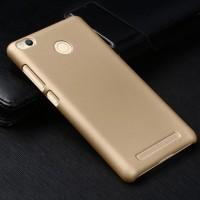 Пластиковый непрозрачный матовый чехол для Xiaomi RedMi 3 Pro/3S Бежевый