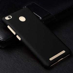 Пластиковый непрозрачный матовый чехол для Xiaomi RedMi 3 Pro/3S Черный
