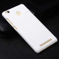 Пластиковый непрозрачный матовый чехол для Xiaomi RedMi 3 Pro/3S Белый