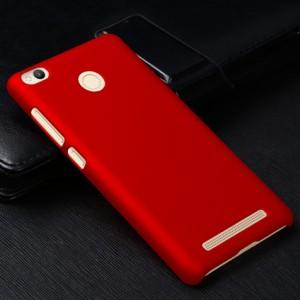 Пластиковый непрозрачный матовый чехол для Xiaomi RedMi 3 Pro/3S Красный