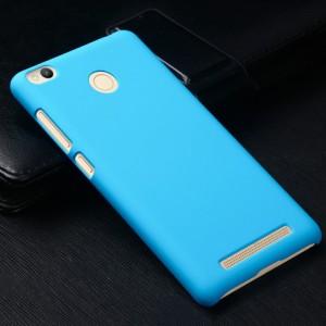 Пластиковый непрозрачный матовый чехол для Xiaomi RedMi 3 Pro/3S Голубой