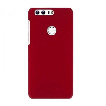 Пластиковый непрозрачный матовый чехол для Huawei Honor 8 Красный