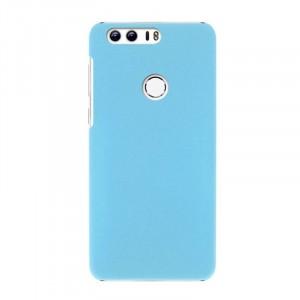 Пластиковый непрозрачный матовый чехол для Huawei Honor 8 Голубой