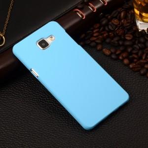 Пластиковый матовый непрозрачный чехол для Samsung Galaxy A5 (2016) Голубой