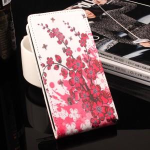 Чехол вертикальная книжка на силиконовой основе с отсеком для карт и полноповерхностным принтом на магнитной защелке для Samsung Galaxy A3 (2017)