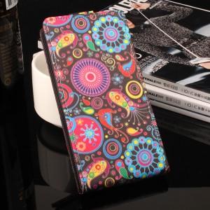 Чехол вертикальная книжка на силиконовой основе и полноповерхностным принтом на магнитной защелке для Samsung Galaxy A3 (2017)