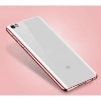 Силиконовый матовый полупрозрачный чехол с текстурным покрытием Металлик для Xiaomi Mi Note Розовый