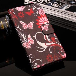 Чехол горизонтальная книжка подставка на силиконовой основе с отсеком для карт и полноповерхностным принтом на магнитной защелке для Meizu M5