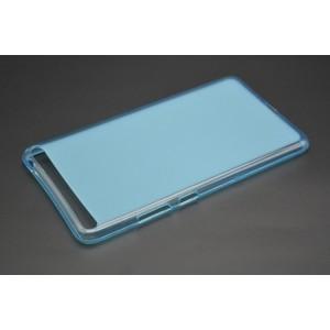 Силиконовый матовый полупрозрачный чехол для Lenovo Phab Plus Голубой