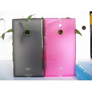 Силиконовый матовый полупрозрачный чехол для Nokia Lumia 1520 Розовый