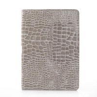 Чехол подставка серия Croco Pattern для Samsung Galaxy Note 10.1 2014 Edition Серый
