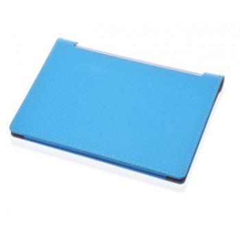 Чехол подставка с рамочной защитой экрана текстура Линии для Lenovo Yoga Tablet 10 Голубой