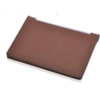 Чехол подставка с рамочной защитой экрана текстура Линии для Lenovo Yoga Tablet 10 Коричневый