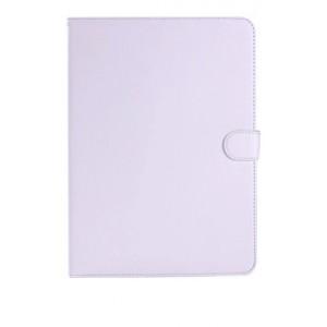 Кожаный чехол подставка с застежкой для Samsung Galaxy Tab 4 10.1 Белый
