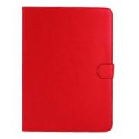 Кожаный чехол подставка с застежкой для Samsung Galaxy Tab 4 10.1 Красный