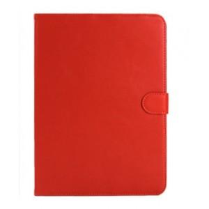 Кожаный чехол подставка с застежкой для Samsung Galaxy Tab 4 10.1 Оранжевый