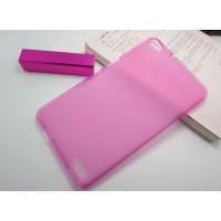 Силиконовый полупрозрачный чехол для Huawei MediaPad X1 Розовый