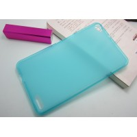 Силиконовый полупрозрачный чехол для Huawei MediaPad X1 Голубой