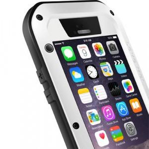 Экстразащитный удароабсорбирующий чехол из алюминиевого сплава/закаленного стекла/силиконового полимера для Iphone 6 Plus