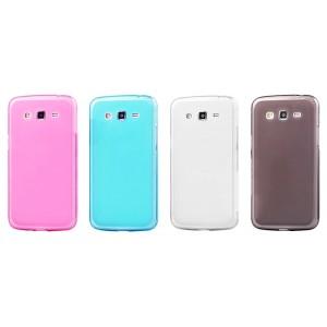 Силиконовый матовый полупрозрачный чехол для Samsung Galaxy Grand 2