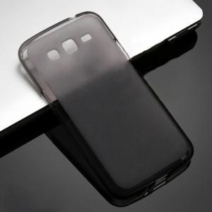 Силиконовый матовый полупрозрачный чехол для Samsung Galaxy Grand 2 Черный