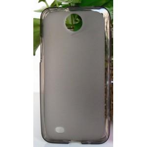 Силиконовый матовый полупрозрачный чехол для HTC Desire 300 Черный