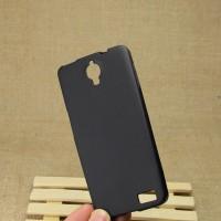 Силиконовый матовый полупрозрачный чехол для Alcatel One Touch Idol X Черный