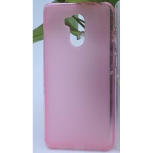 Силиконовый матовый полупрозрачный чехол для Xiaomi RedMi 4 Pro Розовый