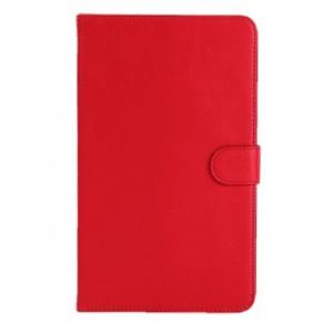 Кожаный чехол подставка с защелкой для Samsung Galaxy Tab 4 8.0 Красный