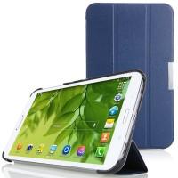 Чехол флип подставка сегментарный для Samsung Galaxy Tab 4 8.0 Синий
